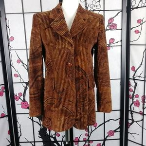 Escada Sport Corduroy Paisley Vtg Smoking Jacket